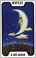 Significado de la carta del tarot La Luna