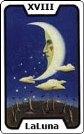 Signifiacdo de la carta de tarot La Luna